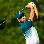 Sergio Garcia hits five golf balls in the water at the Masters