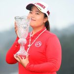 Shanshan Feng with Toto Japan Classic trophy