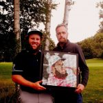 Art meets Golf at Arteeworld, making portraits with golf tees