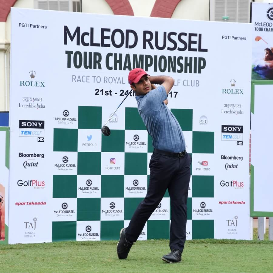 Shubhankar Sharma leads round one at Mcleod Russel Championship