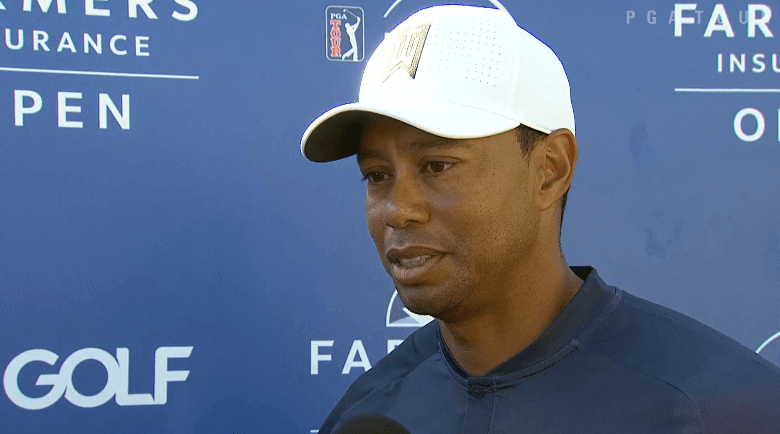 Woods makes cut, Palmer holds 36-hole lead