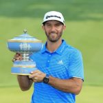 Dustin Johnson with WGC-Dell Play Trophy