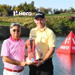 Stephen Gallacher, Hero Indian Open 2019 Champion with Dr Pawan Munjal, Chairman, Hero MotoCorp